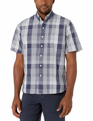 Reyn Spooner Men's Seersucker Plaid Classic Fit Shirt