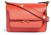 Marni 'Trunk' mini saffiano leather shoulder bag