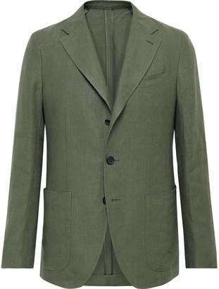 Caruso Slim-Fit Linen Suit Jacket