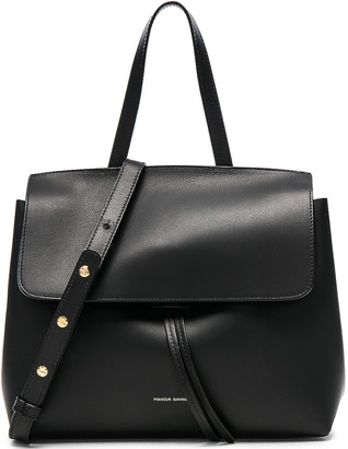 Mansur Gavriel Mini Lady Bag in Black & Blu Vegetable Tanned | FWRD