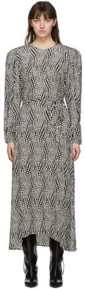Isabel Marant Black and Off-White Telenda Dress