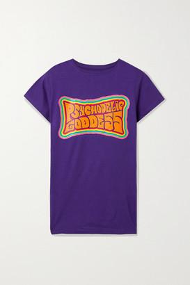 Marika Vera Printed Cotton-jersey T-shirt - Purple