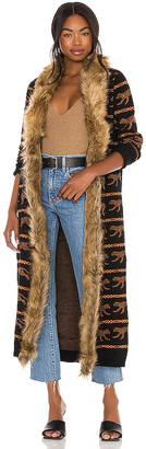 Show Me Your Mumu Langston Faux Fur Cardigan