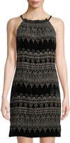 Max Studio Sleeveless Velvet Devore Dress
