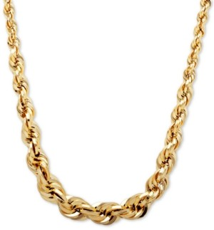 "Macy's Graduated Rope 18"" Chain Necklace in 10k Gold"