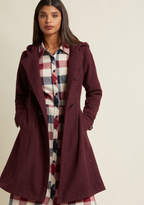 ModCloth Set for the Solstice Coat in Wine in 4X - Long Sleeve