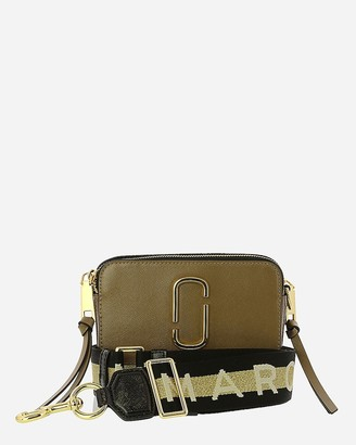 Express Marc Jacobs The Snapshot Logo Strap Leather Crossbody