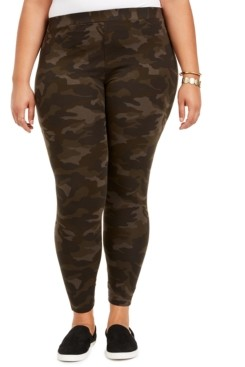 Style&Co. Style & Co Plus Size Camo Daze Printed Leggings, Created for Macy's