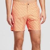 IBIZA Ocean Club Men's Swim Trunks Geometric Print Orange - IBIZA