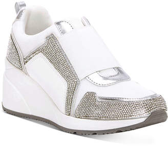 INC International Concepts Inc Women Heily Stretch Wedge Sneakers, Women Shoes