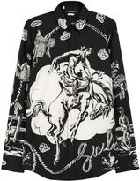 Dolce & Gabbana Black Printed Cotton Shirt