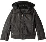 Urban Republic Kids - Hooded Sherpa Moto Jacket Boy's Coat