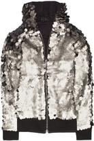 Karl Lagerfeld Tuga metallic leather-paillette jacket