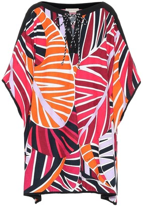Emilio Pucci Beach Printed cotton-blend kaftan