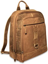 Jack Georges Genuine Full Grain Hunter Finish Buffalo Leather Backpack