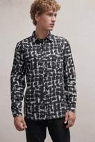 French Connection Chaos Check Flannel Shirt