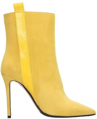 The Seller High Heels Ankle Boots In Yellow Suede