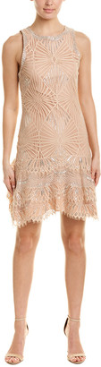Jonathan Simkhai Metallic Lace Shift Dress
