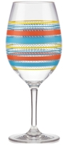 Dansk Cabana Stripe Acrylic Wine Glass