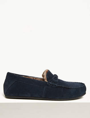 M&S CollectionMarks and Spencer Suede Knot Saddle Moccasins