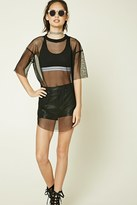Forever 21 FOREVER 21+ Raw-Cut Mesh Top