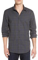 John Varvatos Trim Fit Check Sport Shirt