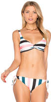 Solid & Striped The Jane Bikini Top in Cream. - size XS (also in )
