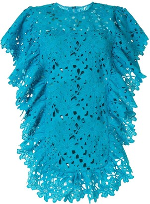 Bambah Lace Crochet Ruffle Dress