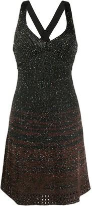 M Missoni V-neck glittered dress