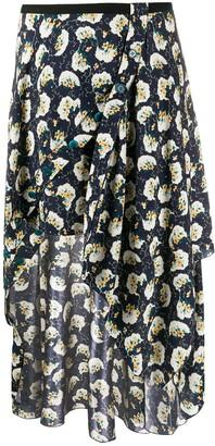 Chloé Floral Print Asymmetric Skirt