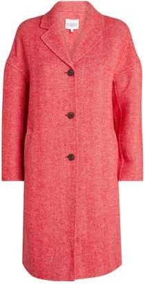 Claudie Pierlot Herringbone Wool Coat