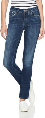 Silver Jeans Co. Women's Suki Curvy Fit Mid Rise Straight Leg Jeans