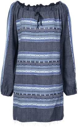 Lemlem striped drawstring neck dress