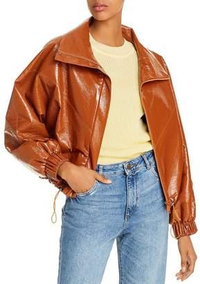 ÁERON Portia Faux-Leather Bomber Jacket