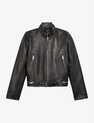 The Kooples High-neck leather jacket