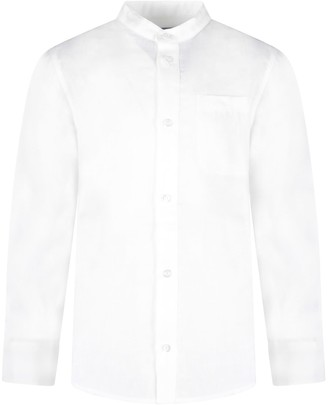 Fay White Boy Shirt With Logo