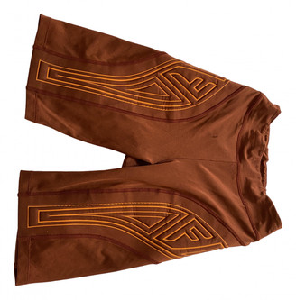 Fendi Orange Polyester Shorts