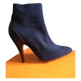 Hermes Blue Leather Ankle boots