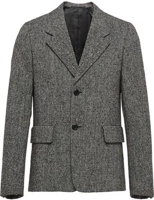Prada Donegal boxy fit jacket