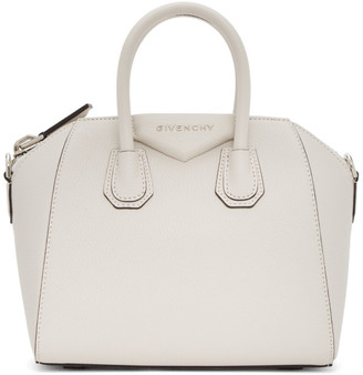 Givenchy White Mini Antigona Bag