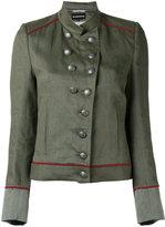 Ann Demeulemeester military stand-up collar jacket - women - Cotton/Linen/Flax/Rayon - 36