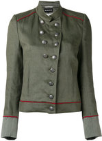 Ann Demeulemeester military stand-up collar jacket