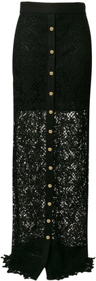 Fausto Puglisi Long Lace Skirt