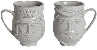 Jonathan Adler Utopia Macho Macho Cowboy/Indian Mug