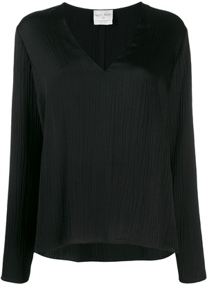 Forte Forte V-neck ribbed blouse
