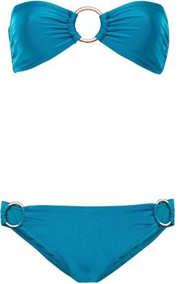 Zimmermann Ruched Bandeau Bikini Top