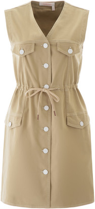 See by Chloe Warm Ivory Denim Mini Dress