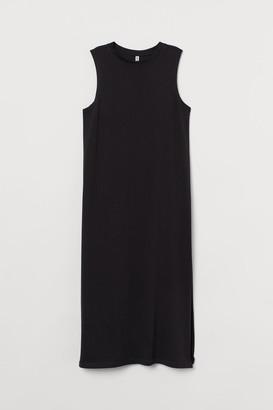 H&M Cotton Jersey Dress - Black
