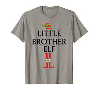 Mens Cute Little Brother Elf Christmas Matching Group Costume T-Shirt