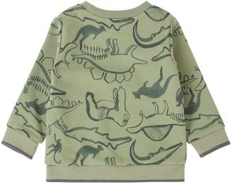 Mamas and Papas Baby Boys Safari Printed Sweater - Green